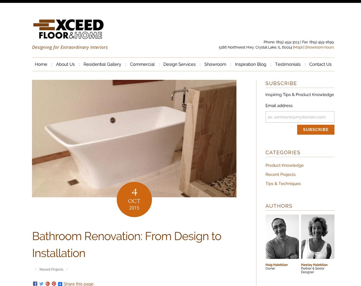 Website Design & Development for Premier Home & Flooring Showroom