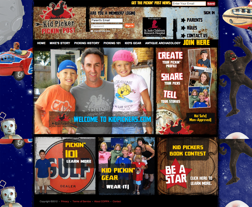Kid Picker Online Social Community for Mike Wolfe Of American Pickers