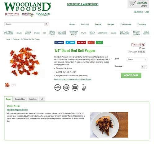 Woodland Foods Ecommerce