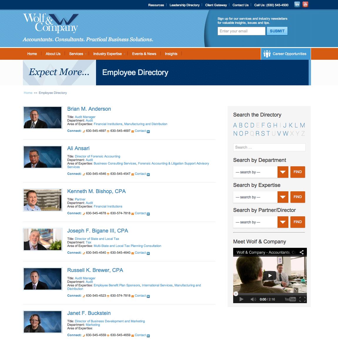 Partner & Employee Directory