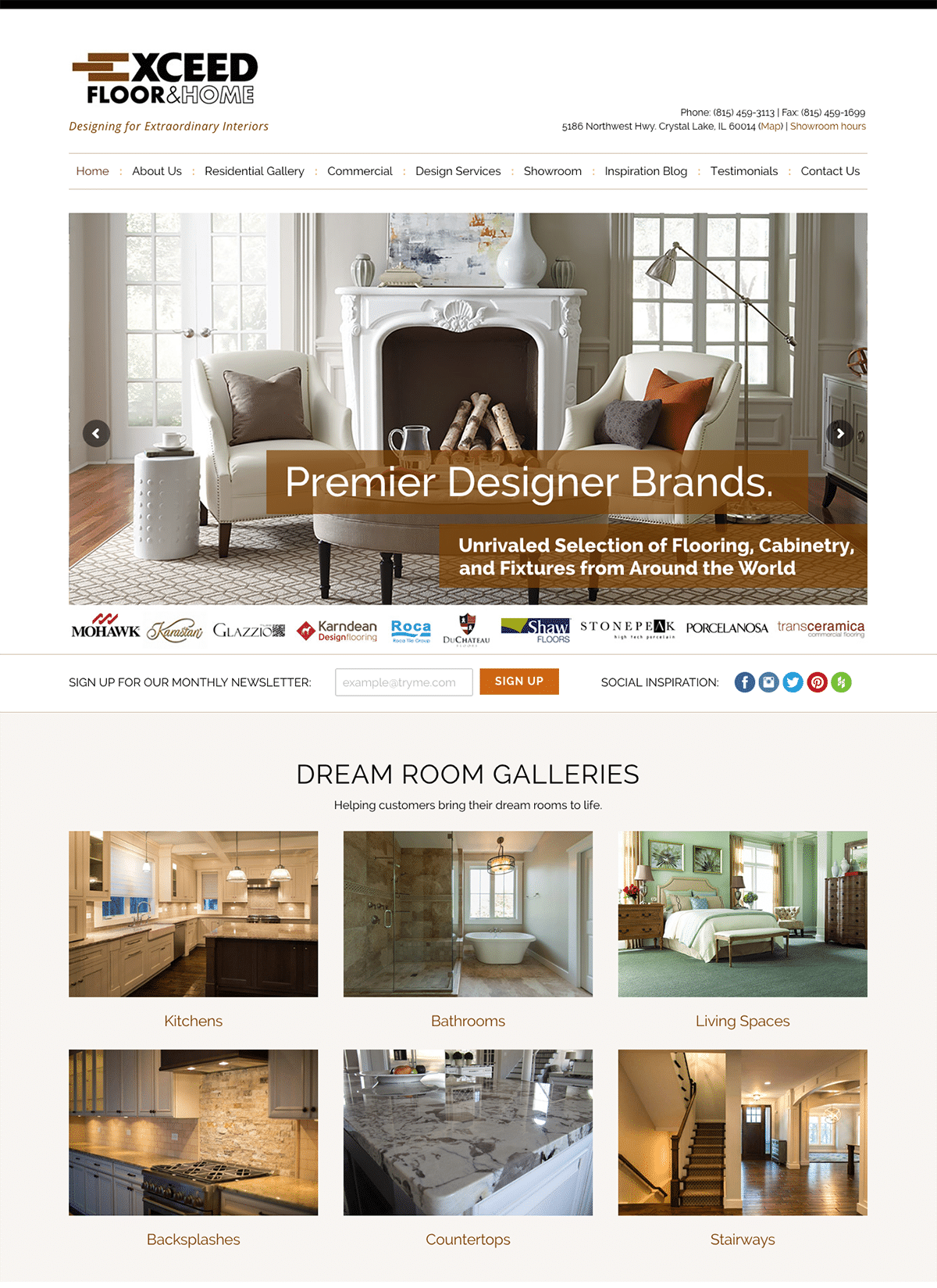 Website Design & Development for Premier Home & Flooring Showroom ...