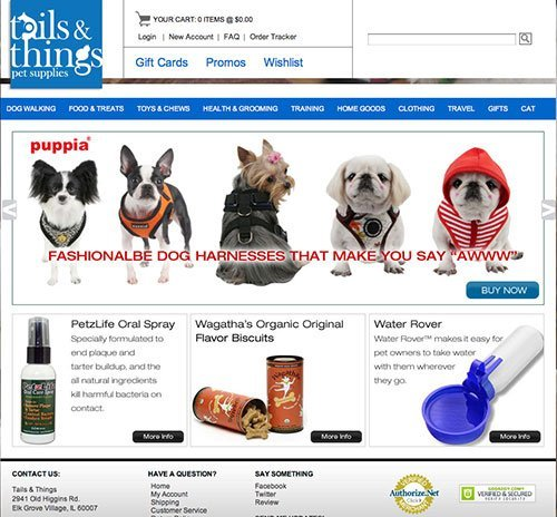 tails n things ecommerce